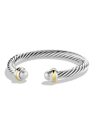 David Yurman Cable Classics Bracelet With Pearls And Gold