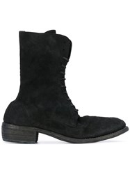Guidi Lace Up Boots Men Horse Leather Leather 43 Black