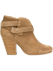 Rag And Bone Strap Detail Ankle Boots Brown