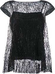 Erdem A Line Lace Blouse Black