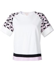 Giambattista Valli Embroidered Sleeves T Shirt White