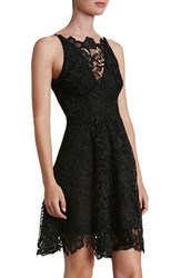 Dress The Population Women's 'Hayden' Lace Fit And Flare Black Black