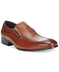 Kenneth Cole Reaction Polish Up Loafers Men's Shoes Cognac