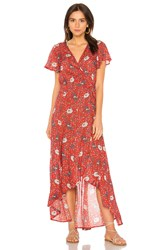 Auguste Valentina Fiesta Wrap Maxi Dress Red