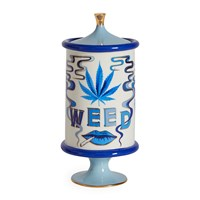 Jonathan Adler Druggist Weed Canister Small Multi Blue