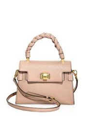 Miu Miu Leather Top Handle Satchel Cammeo