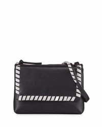 French Connection Callie Whipstitch Crossbody Bag Black