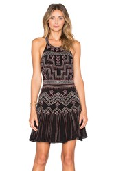 Parker Leona Sequin Dress Black