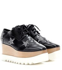 Stella Mccartney Elyse Star Platform Derby Shoes Black