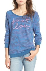 Sundry Women's Just Love Camo Pullover