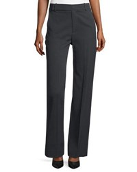 Vince Wide Leg Pleated Pants Dark Gray