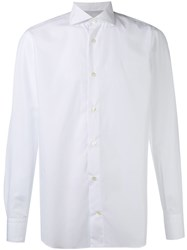 Eleventy Long Sleeve Shirt White
