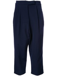 Studio Nicholson Cropped Tapered Trousers Blue