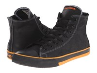 Harley Davidson Nathan Black Orange Men's Lace Up Casual Shoes