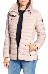 Bernardo Micro Touch Water Resistant Quilted Jacket Petal Pink