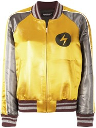 Undercover Back Print Bomber Jacket Yellow