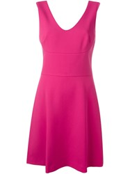 Michael Michael Kors A Line Dress Pink And Purple