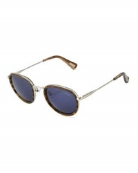 Lanvin Two Tone Round Sunglasses Gray Pattern