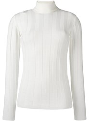 Lala Berlin High Neck Jumper White