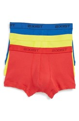 2Xist Men's 2 X Ist 3 Pack No Show Trunks Yellow Formula One Lapis