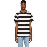 A.P.C. Black And White Striped Archie T Shirt
