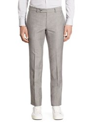 Saks Fifth Avenue Modern Ford Wool And Linen Pants Grey