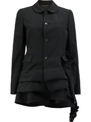 Comme Des Garcons Draped Flared Jacket Black