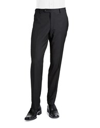 Black Brown Jack Slim Textured Straight Leg Dress Pants Navy Stripe