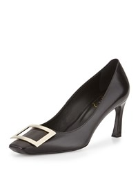 Roger Vivier Trompette Leather Buckle 70Mm Pump Black