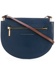 Victoria Beckham New Moonlight Crossbody Bag Women Leather One Size Blue