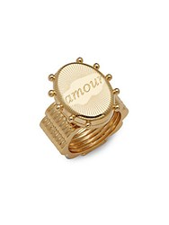 Chloe Brass Amour Ring Gold