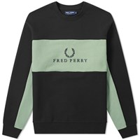 Fred Perry Panel Piped Sweat Black