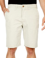 Lucky Brand Solid Blended Cotton Shorts