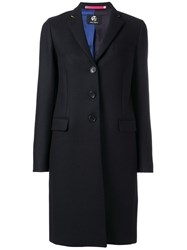 Paul Smith Ps By Contrasting Collar Detail Coat Black