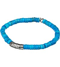 Tateossian Bamboo Bead Disc Bracelet Turquoise