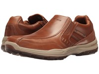Skechers Classic Fit Elment Brencen Cognac Leather Men's Shoes Brown
