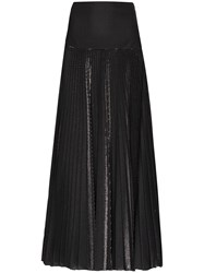 Alexandre Vauthier Metallic Detail Pleated Maxi Skirt 60