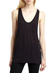 Alexander Wang Classic Pocket Tank Grey White Black