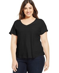 Styleandco. Style And Co. Plus Size V Neck Tee