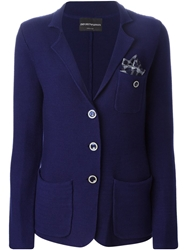 Emporio Armani Pocket Square Knit Blazer
