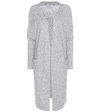 Acne Studios Raya Mohair And Wool Blend Cardigan Grey