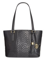 Giani Bernini Pebble Weave Tote Only At Macy's Black