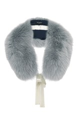 Yves Salomon Paris Fox Fur Collar Grey