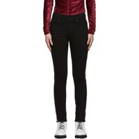 Mcq By Alexander Mcqueen Black Zip Harvey Jeans