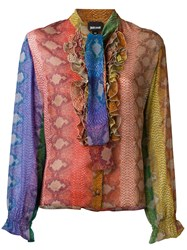 Just Cavalli Pussybow Ruffle Blouse