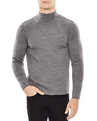 Sandro High Collar Slim Fit Sweater Gray