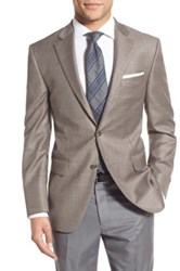 Peter Millar Classic Fit Houndstooth Wool Sport Coat Brown