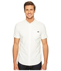 Oakley Icon Short Sleeve Woven White Men's Clothing