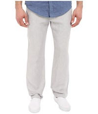 Perry Ellis Drawstring Linen Pants Alloy Men's Casual Pants Gray