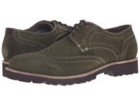 Lotus Evan Green Suede Men's Lace Up Wing Tip Shoes